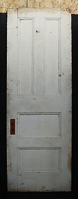 "30""x 89""x1.75"" Antique Vintage Victorian Oak Wood Wooden Door 4 Recessed Panels"