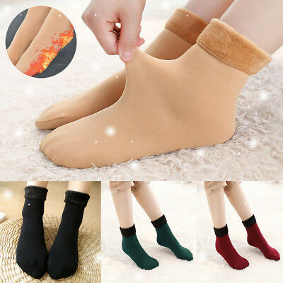 Lot of 2Pairs Unisex Winter Thermal Ankle Protective Sock Fluffy Lining Stretchy