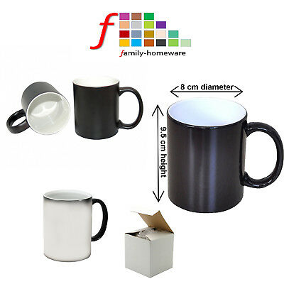 COLOUR CHANGING BLACK SUBLIMATION MAGIC MUGS 11oz  HEAT PRESS TRANSFER