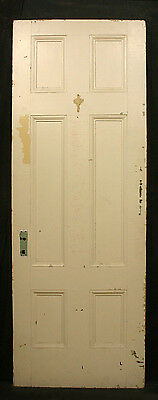"2 avail 30""x82""x1.75"" Antique Vintage Colonial Solid Wood Wooden Door 6 Panels"