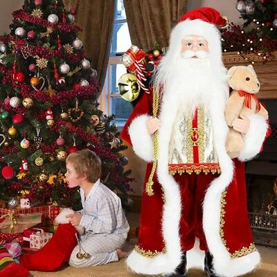NEW 18inch Christmas Father Santa Claus Standing Figure Xmas Decoration 46cm
