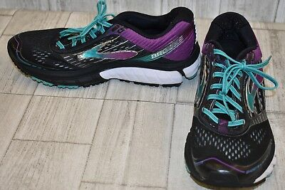 a7504efa6212 Brooks Ghost 9 Athletic Shoes - Women s Size 10 2A - Black Purple Teal