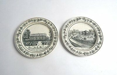 2nd Pair of French Antique Plates Paris Theme c. 1810