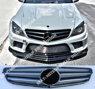 MERCEDES C W204/C204 grill saloon/coupe/estate,AMG c63 look,gloss  black,rimless