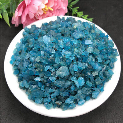 50g Natural Blue Apatite Gem Small Rough Stone Specimen Healing Mineral Decor