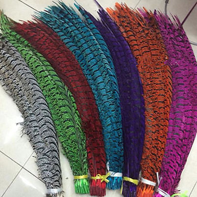 New rare quality 50 Pcs Pheasant feathers 32-36 inch / 80-90 cm Diy decoration