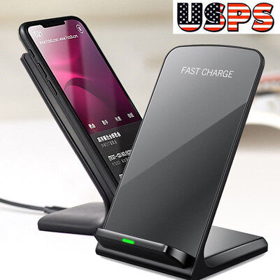 USA For Samsung Galaxy S9+ Plus Wireless Qi Fast Charger Charging Stand Dock Pad