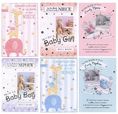 Congratulations On The Birth Of Your Niece Or Nephew New Baby Card 1St P&P