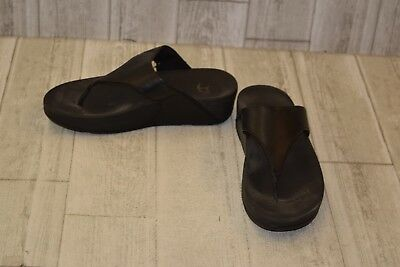 a2afaf30b161 FITFLOP LULU SUPERGLITZ Black Slides Sandals 638-001 Women s Size 8 ...
