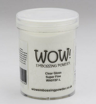 Wow! Embossing Pulver, Clear Gloss, large - 160ml, extra fein, ovp, Stempeln
