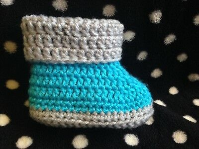 Baby Crochet Shoes AU Handmade Knitted Booties 0-3; 3-6 & 6-12 months