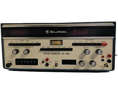 A229 Bell & Howell Tape System Calibrator TSC 2000 Test Function Generator