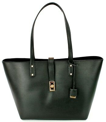 cedbfe34d83b5 Michael Kors Karson Large Shopper Tote Bag Leather Black Handbag RRP £290