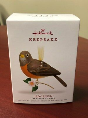Hallmark Lady Robin Limited Ed 2018 Keepsake Xmas Ornament The Beauty of Birds