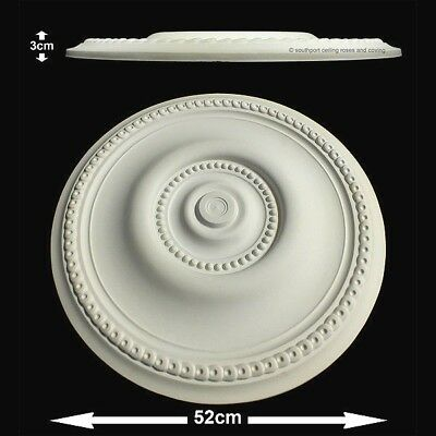 52cm Diameter, Lightweight Ceiling Rose (made of strong resin not polystyrene)