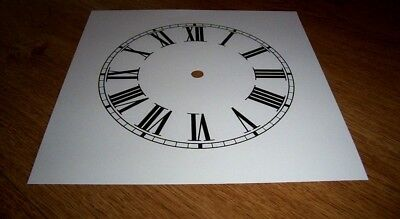 "Ogee Paper Clock Dial- 7 1/2"" M/T - Roman - White Matt -Face/ Clock Parts/Spares"