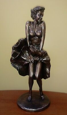 """16"""" tall bronze Look Marilyn Monroe statue Figurine By Comego"""