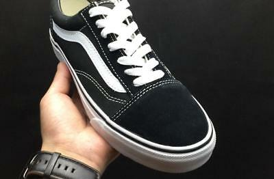 Men and Women Old Skool Black Skateboarding Shoes Classic Canvas Suede