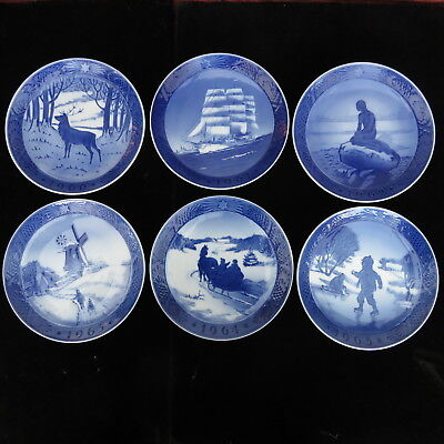 Royal Copenhagen Christmas Plates 1960 - 1965 Mint