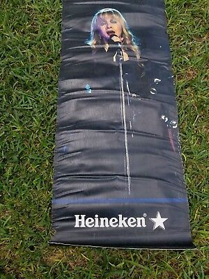 "Heineken heavy vinyl banner Stevie Nicks double sided 23"" + 55"" hard to find.."