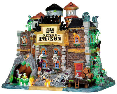 New Lemax Spooky Town ISLE OF NO RETURN PRISON #45664, Halloween