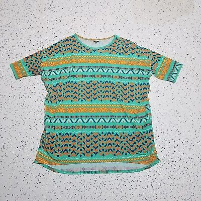 LuLaRoe Women's Irma Shirt Top ~ Greens, Blues, Oranges ~ Sz XL ~ Short Sleeve
