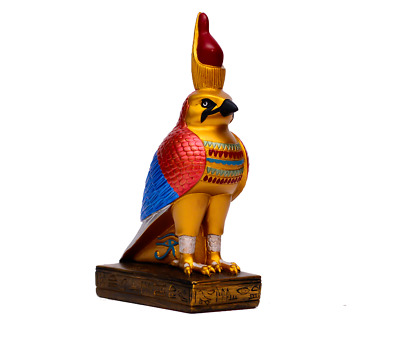 Ancient Egyptian God Horus in Falcon form Statue Made in Egypt 11.5*6*21 cm