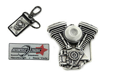 V-Twin Mens Evo Engine Buckle and Fob Set for Harley Lovers Holiday Gift Set