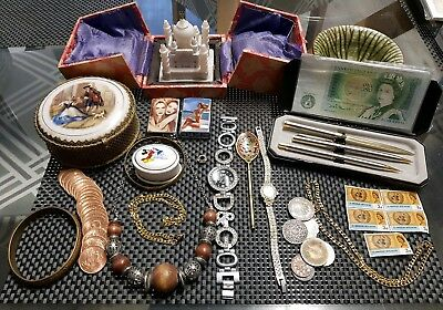 Collection Vintage Antique Collectables,Curios,Coins,Jewellery, Job Lot