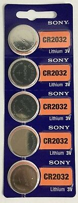 5 Sony CR2032 3V Lithium Batteries Freshly Dated 2028 (ref to any 2032)
