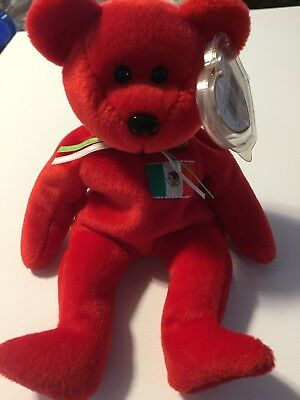 RARE TY OSITO BEANIE BABY WITH ERRORS 1999- New With Tag And Tag Protector