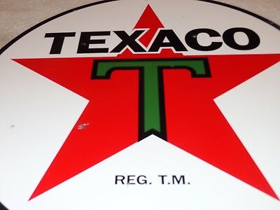 "Vintage ""texaco Gasoline Lubester"" 15"" Porcelain Metal Gasoline Oil Sign Lubster"
