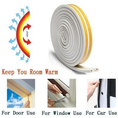 12M Foam Draught Excluder Weather Seal Strip Insulation Tape For Door Window &