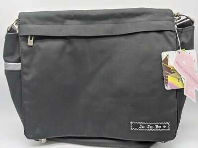 NEW - Ju-Ju-Be Classic Collection Better Be Messenger Diaper Bag, Black/Silver