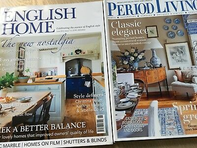 Period Living and The English Home Magazine Bundle (3 Magazines) Back Issues