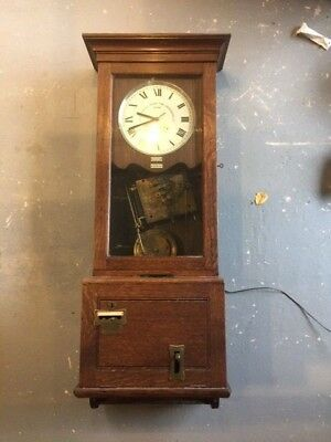Oak old time clock