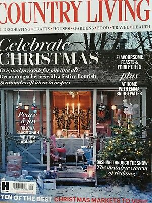 Bundle of Country Living Magazines 2018 (4 Issues) Including December 2018