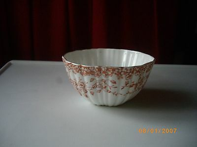 """Vintage Large White with Red Flowers Bowl (sugar)  3.5"""" H  x  5.75""""D"""