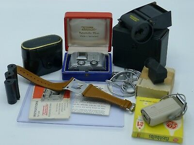 Outstanding TESSINA subminiature camera with accessories!