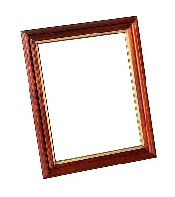 "Antique Victorian Walnut Picture Frame, 20 1/4"" X 24 3/4"" Overall Size"