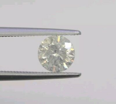0.67ct Diamante Naturale CERTIFICATO IGL G color I1 clarity ROUND Good cut
