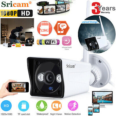 1080P HD IP Camera Wireless Wifi CCTV Home Security IR Night Vision Waterproof