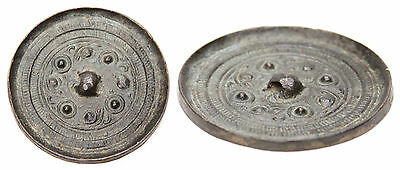 Antique Chinese Small Bronze Mirror Han ? Tang Dynasty? Archaic China Old