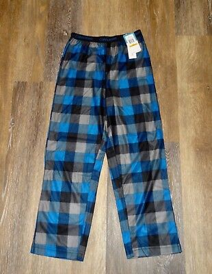 Boys M 7/8 CALVIN KLEIN Blue Plaid Flannel Sleep Pajama Pants NWT