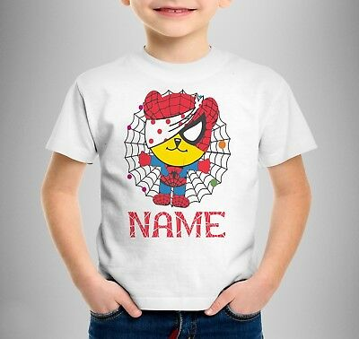 Children In need children's Superhero T-shirt Personalised Spotty Spiderman