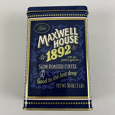 Maxwell House 1892 Slow Roasted Coffee 100 Year Anniversary Tin Box Container