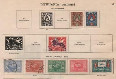 LITHUANIA: 1919-1922 Examples - Ex-Old Time Collection - 2 Part Pages (19791)