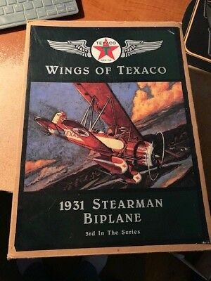 ERTL COLLECTIBLES Wings of Texaco 1931 Stearman Biplane 3rd in the Series 0375