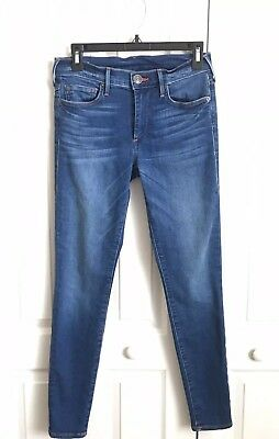 True Religion Jeans Sz 27 Halle Super Skinny Mid Rise Stretch Denim Dark Wash