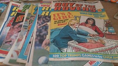 16 Roy Of The Rovers Comics 1970S /80S
